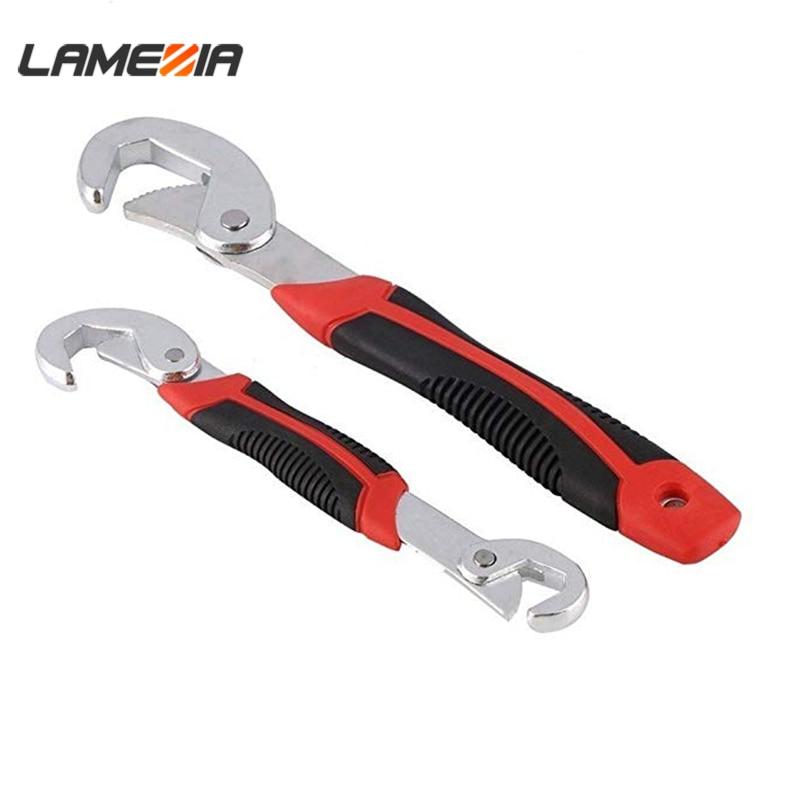 LAMEZIA Wrench Set Universal Keys 9-32mm Multi-Function Adjustable Portable Torque Ratchet Oil Filter Spanner Hand Tools