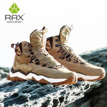 RAX Men Hiking Shoes Mid-top Waterproof Outdoor Sneaker Men Leather Trekking Boots Trail hunting Climbing Hunting Sneakers Women 1