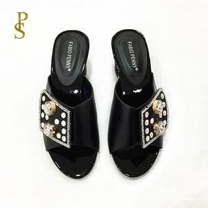 Image 4 - Chaussons pour femmes chaussons pour femmes nigérians avec diamants pour chaussures pour femmes