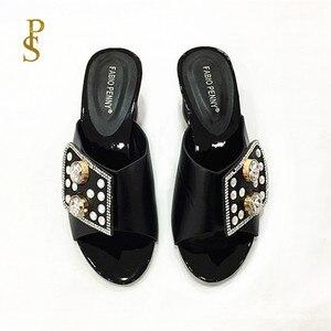 Image 4 - Zapatillas de mujer nigerianas con diamantes, zapatos de mujer
