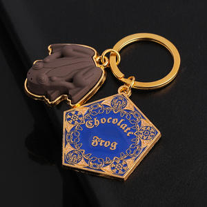 Chocolate Frog Keyring Keychain Jewelry Pendant-Hogwarts Wizard Gifts Magic-World Metal