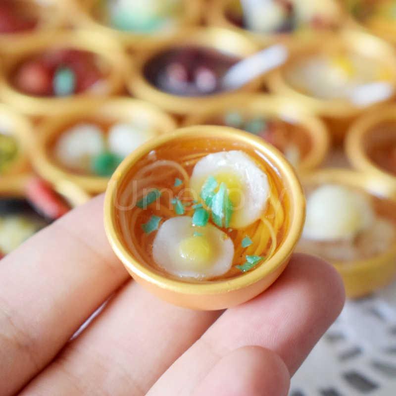 2PCS MINI Noddle/น้ำเชื่อมชาม Miniature ตุ๊กตาจีนอาหารสำหรับ 1/6 Blyth Barbies ตุ๊กตา BJD แกล้งทำเป็นเล่น decor ของเล่น
