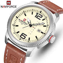 2020 NEW Luxury Brand NAVIFORCE Men Sport Watches Mens Quartz Clock Man Army Military Leather Wrist Watch  Relogio Masculino