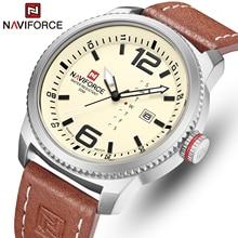 2020新高級ブランドnaviforce男性スポーツ腕時計メンズクォーツ時計男陸軍軍事革腕時計レロジオmasculino