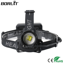 BORUiT XHP70.2 LED Headlamp 3-Mode Zoom Head Torch 18650 Rechargeable Headlight 5000LM Super Bright Camping Hunting Flashlight
