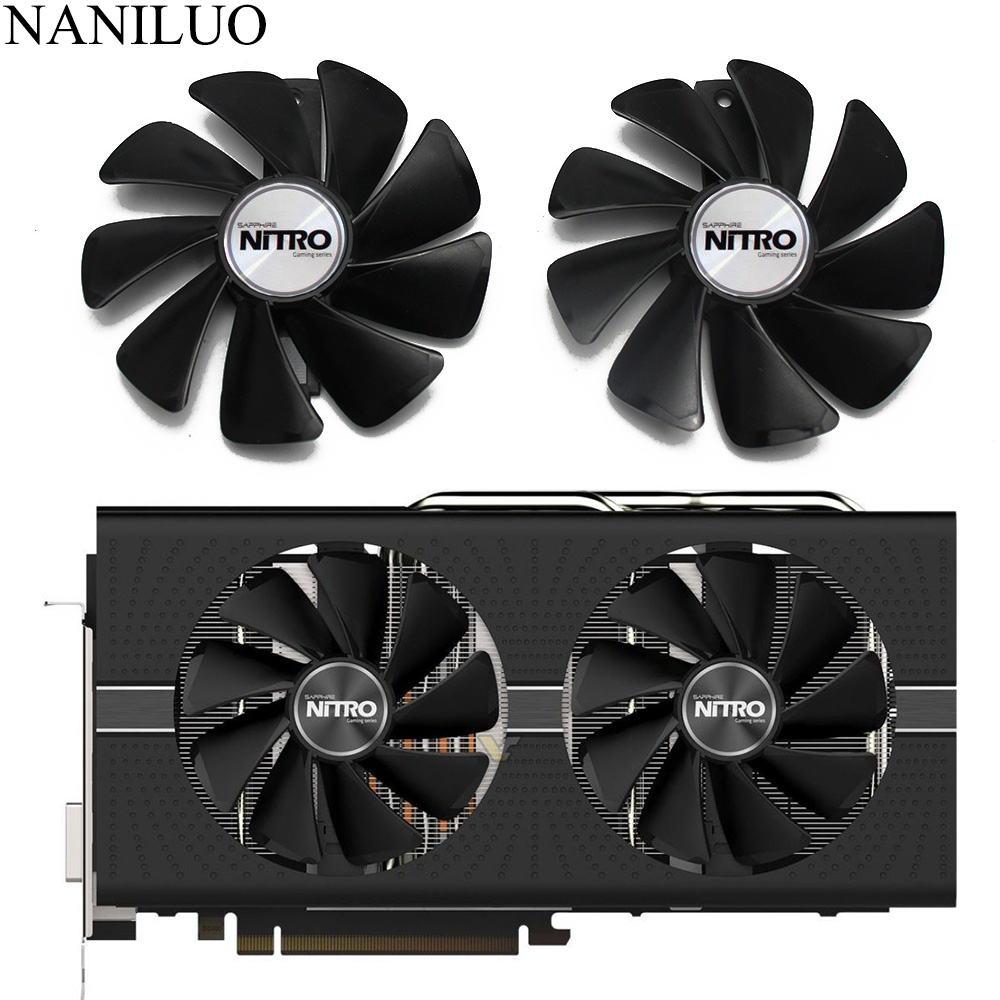 95mm CF1015H12D DC12V Cooler Fan Replace For Sapphire NITRO RX480 8G RX 470 4G GDDR5 RX570 4G / 8G D5 RX580 8G OC