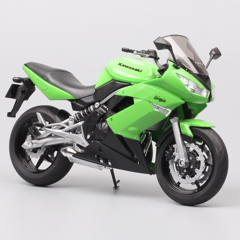 1/10 Welly Scale Kawasaki Ninja 650R ER-6f EХ-6 Motorcycle Model Diecast Vehicles Sport Touring Racing Bike Toys Thumbnails Kids