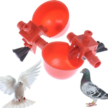 Red Automatic Drinking Cup Nipple Quail Hen Bird Water Cups Plastic Poultry Drinker Chicken HOT
