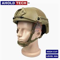 Casque balistique à l'épreuve des balles de Style Aholdtech véritable ISO NIJ IIIA léger et rapide pour la Police de Combat de l'armée Airsoft
