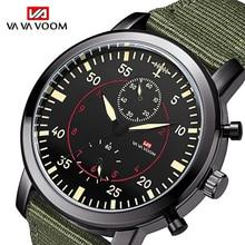 2019 Mens Sports Waterproof Watch Army Pilot Military Fashion Men Nylon Belt Quartz Wrist relogio masculino