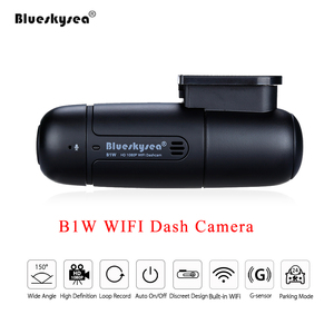 Image 1 - Blueskysea B1W Dash Camera Car Dvr Full HD 1080P Mini WiFi Dash Cam 360 Degree Rotate Parking Mode IMX323 Car Dashboard Recorder
