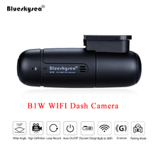 Blueskysea B1W 대시 카메라 자동차 Dvr 전체 HD 1080P 미니 와이파이 대시 캠 360 학위 회전 주차 모드 IMX323 자동차 대시 보드 레코더