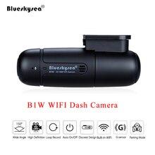 Blueskysea B1W داش كاميرا السيارة مزودة بجهاز تسجيل فيديو كامل HD 1080P واي فاي صغير داش كام 360 درجة تدوير وضع وقوف السيارات IMX323 لوحة سيارة مسجل