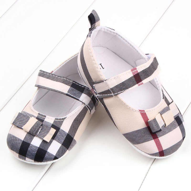 Baby Schoenen Pasgeboren Schoenen Meisjes Jongens Casual Checker Doek Antislip Zachte Bodem Baby Peuter Eerste Wandelaars Sneakers Crib Schoenen