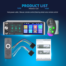 Car Audio 4.1''Bluetooth 5.0 Siri Mirror Link Touch AI Voice 1 Din Car Radio MP5 Player FM+Steering Wheel Controller Accessories