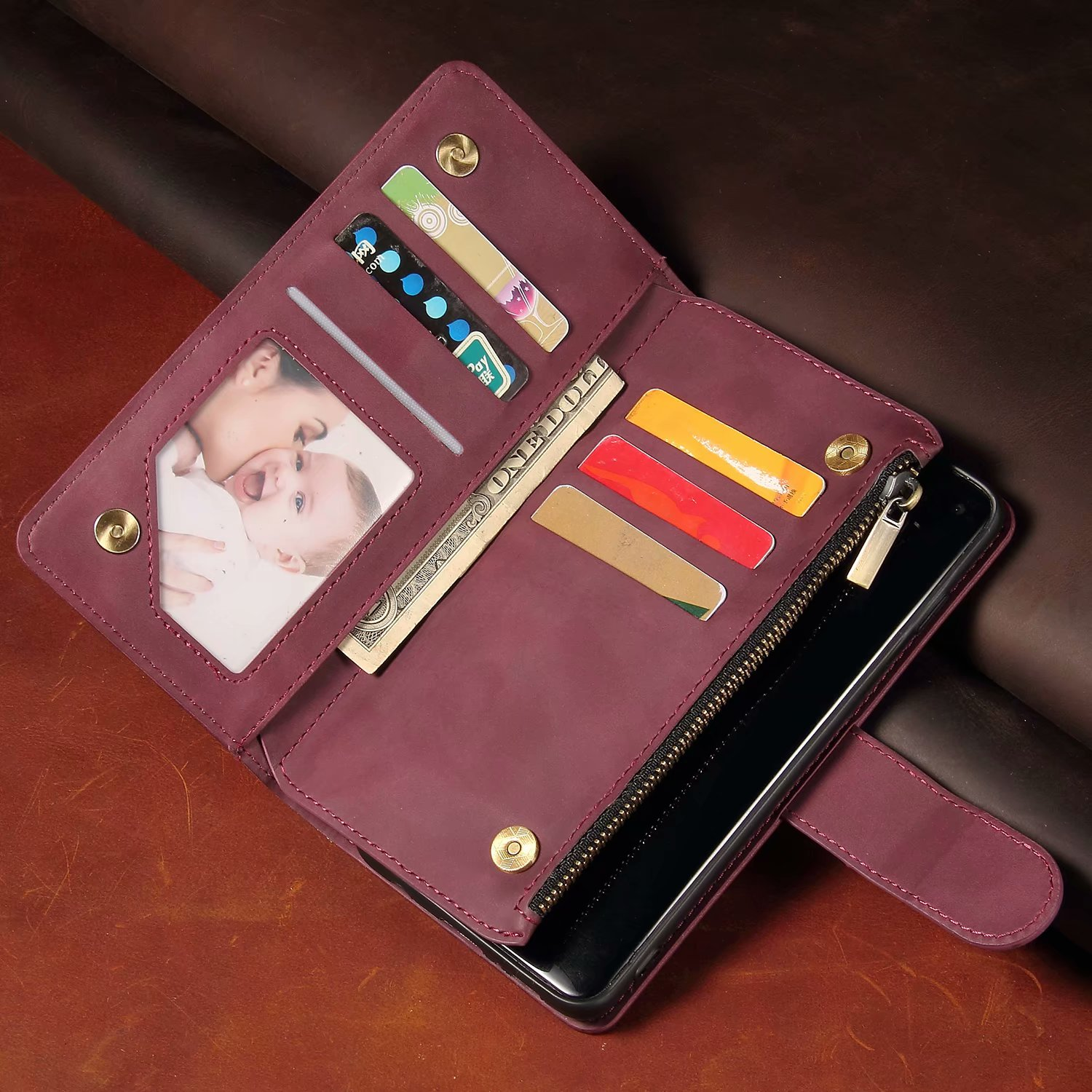 Luxury Leather Wallet For LG K30 2019 LMX320EMW Case Magnetic Zipper Wallet Mobile Retro Wallet Flip Card Stand Cover Leather