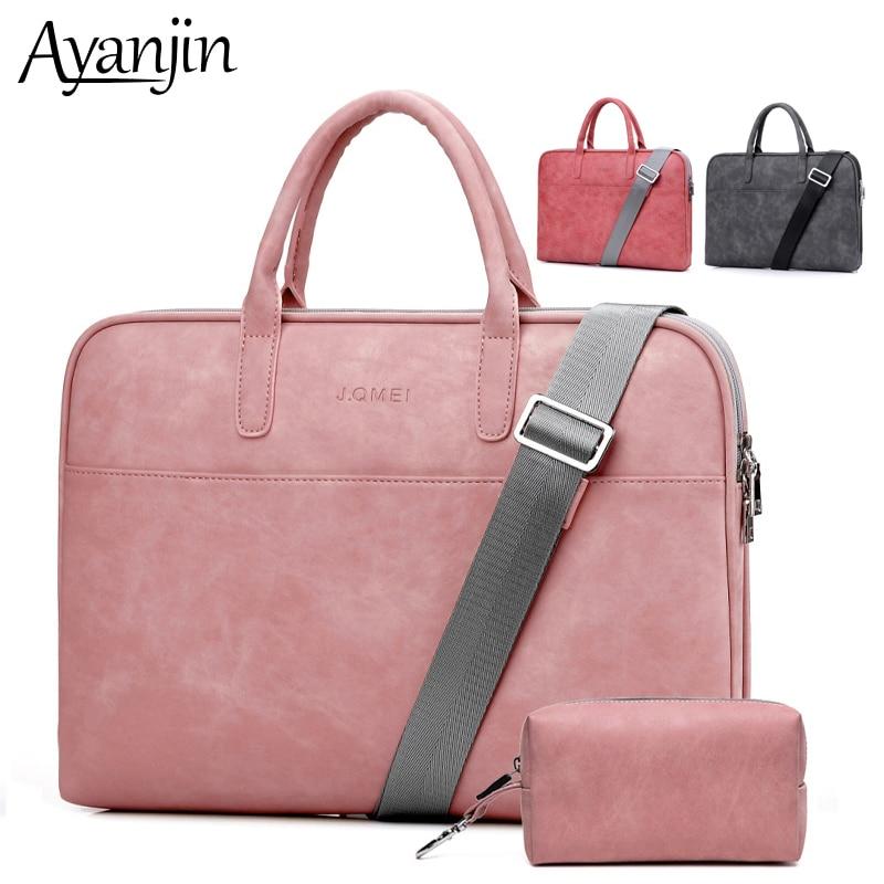 PU Leather Scrub Scratchproof Laptop 14 15 6 17 3 Handbag For font b Macbook b