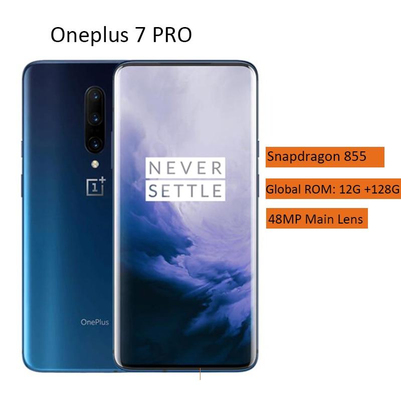 OnePlus 7 Pro 4G Smartphone 6.67 pouces Android 9.0 Octa Core 12 go RAM 256 go ROM 48.0MP + 16.0MP + 8.0MP caméra 4000mAh téléphone portable