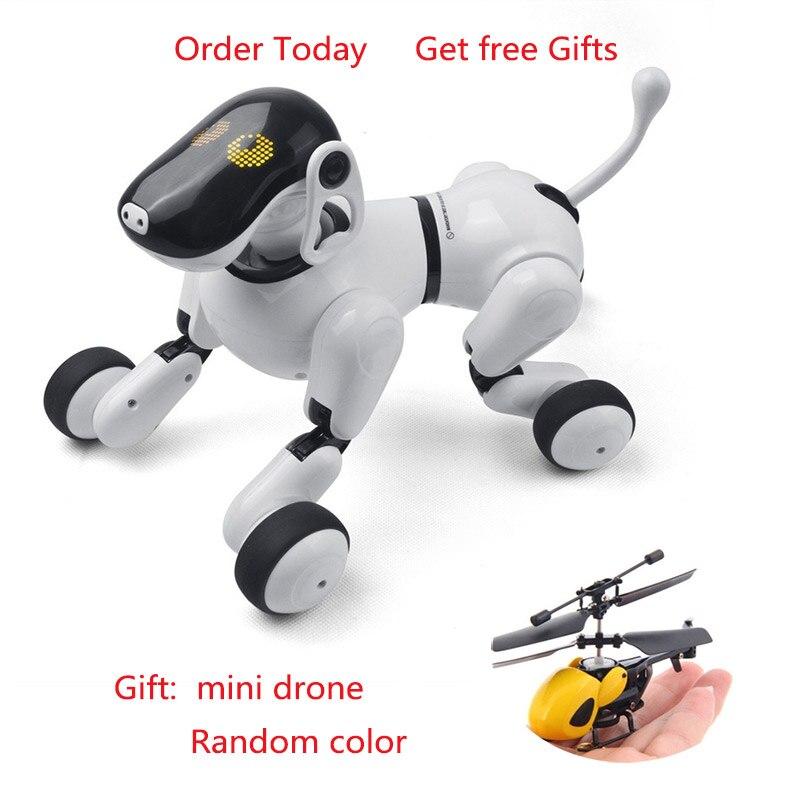 Electrónica para perros mascotas Control remoto inteligente robot electrónico inalámbrico Robot parlante inteligente perro juguetes para niños Año Nuevo regalos de navidad