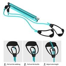 H Gym Portable Pilates Bar Kit With Resistance Band Adjustable Pilates Exercise Stick Toning Bar Fitness Home Yoga Body Workout