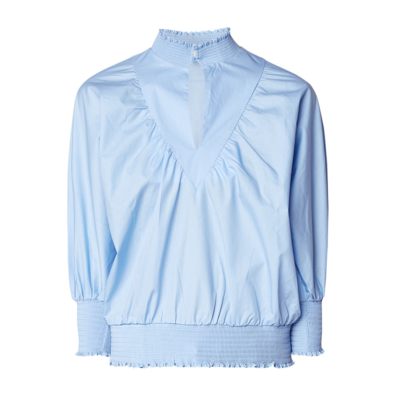 Spring Autumn Women Blouse White/Blue Shirts ladies casual Top Bat sleeve Blouses and tops