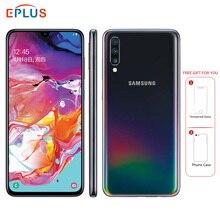 Абсолютно мобильный телефон samsung Galaxy A70 A7050, 6,7 дюймов, 8 ГБ ОЗУ, 128 Гб ПЗУ, Восьмиядерный процессор Snapdragon 675, 20:9, дроп-экран, NFC телефон