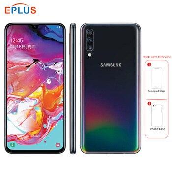 Купить Абсолютно новый мобильный телефон samsung Galaxy A70 A7050, 6,7 дюймов, 8 ГБ ОЗУ, 128 Гб ПЗУ, Восьмиядерный процессор Snapdragon 675, 20:9, дроп-экран, NFC телефон