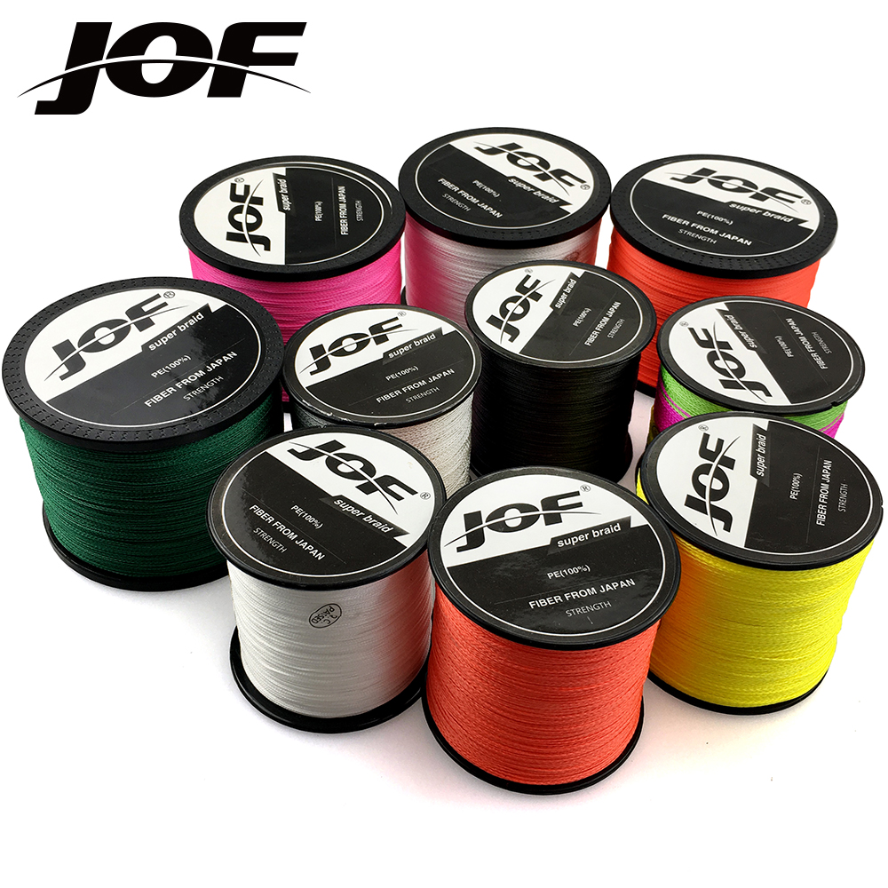 NEWE 8 Strands <font><b>4</b></font> Strands 1000M JOF <font><b>PE</b></font> White Braid Fishing Line Weave Superior Extreme Strong 100% SuperPower image