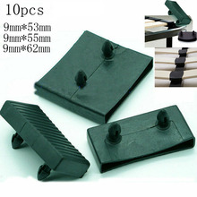 Sofa-Bed Centre-End-Caps Slat Plastic Black Size-9mmx55mm 10pcs Holders Replacement Inner-Rubber-Sleeve