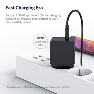 Image 3 - ORICO PD Fast Charger 18W USB Type C Charger Mini Portable Wall Charger for iPhone 11Pro Max xiaomi Huawei