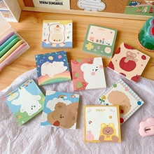 100 Sheets Cartoon Bear Memo Pad Student Creative Notebook Planner Stickers Message Note Paper School Supplies Kawaii Stationery 27 sheets 1300 style cut emoji sticker smile for notebook message high vinyl funny creative free shipping