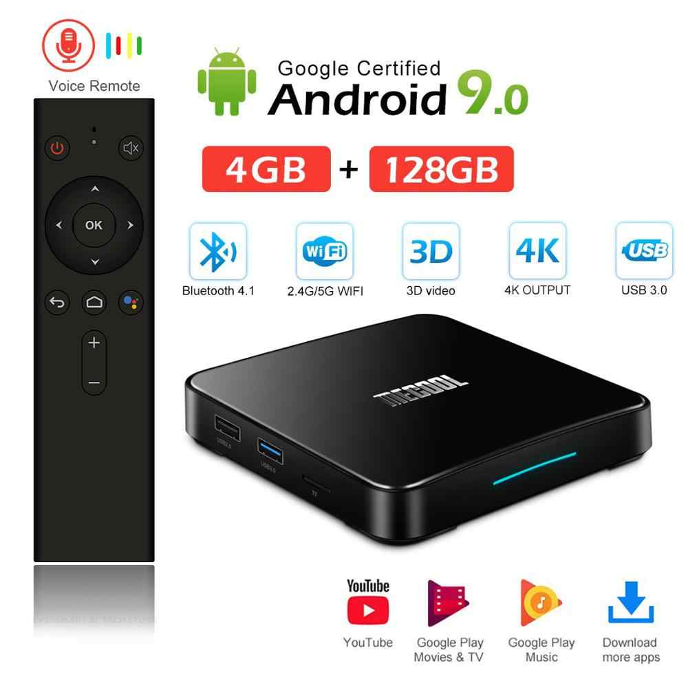 MECOOL KM3 Android 9.0 TV Box Google certifié 4GB DRR4 64 GB/128 GB eMMC Smart TVBOX Amlogic S905X2 4K 2.4G/5G double Wifi BT4.0