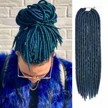 Искусственные замки, вязанные крючком косы, волосы, синтетические волосы для наращивания, плетение волос, вязанные крючком косы, волосы смешанных цветов