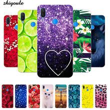 "Soft Phone Case For Tecno Camon 11 12 Pro Camon11 6.2"" Case Print Back Cover Fashion Cartoon HD Rose Patterned Shell Fundas Para(China)"