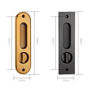 Image 5 - KAK Sliding Door Lock with Keys Hidden Door Handle Interior Door Pulls Lock Anti theft Room Wood Door Lock Furniture Hardware