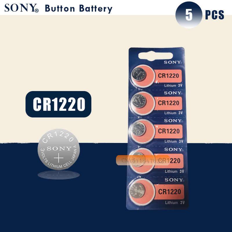 5 Chiếc Sony 100% Nguyên Bản CR1220 Tế Bào Nút Pin Cho Đồng Hồ Xe Từ Xa Chìa Khóa Cr 1220 ECR1220 GPCR1220 3 V pin Lithium