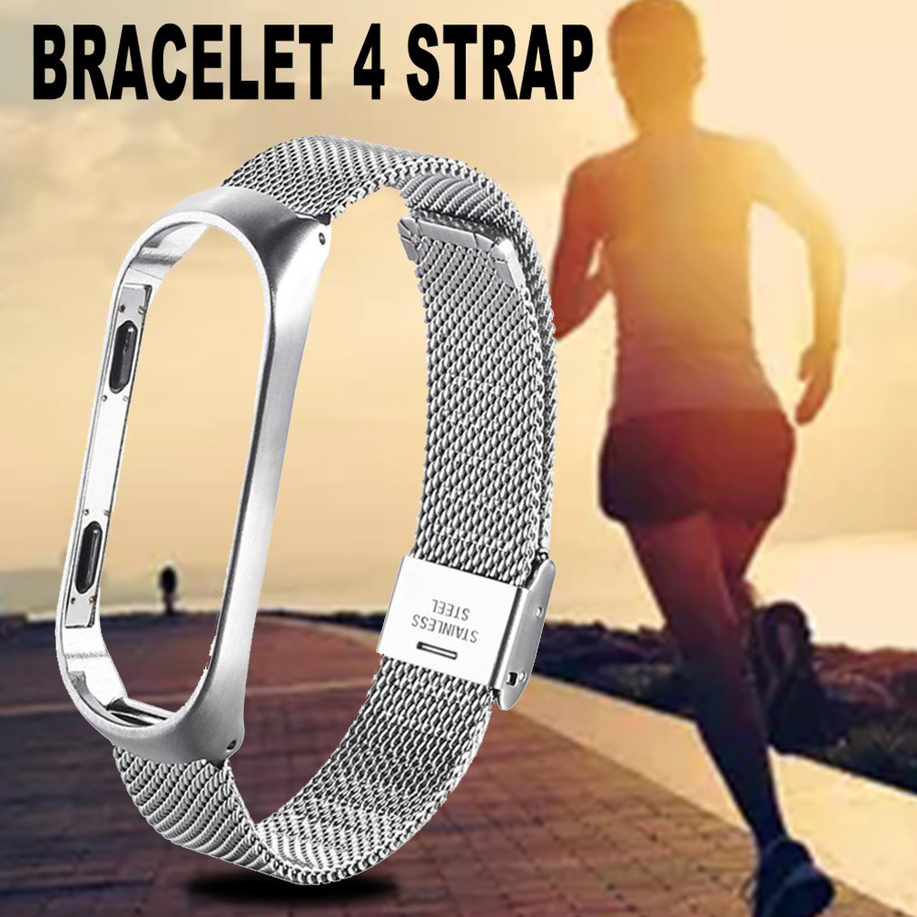 Mi Band 4 Wrist Strap Metal Stainless Steel For Mi Band 4 Strap Bracelet Miband 4 Wristband Replacement Strap
