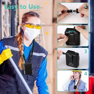 Image 3 - Поясной вентилятор, портативный Handsfree USB вентилятор, мини носимый клип на вентилятор, сильный ветер, 3600MAH аккумуляторная батарея для кемпинга, рыбалки, Cyc