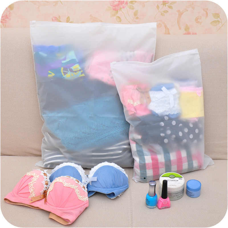 Frosted Sealed Transparent Swimming Bags Package Travel Pouch Zip lock Bag