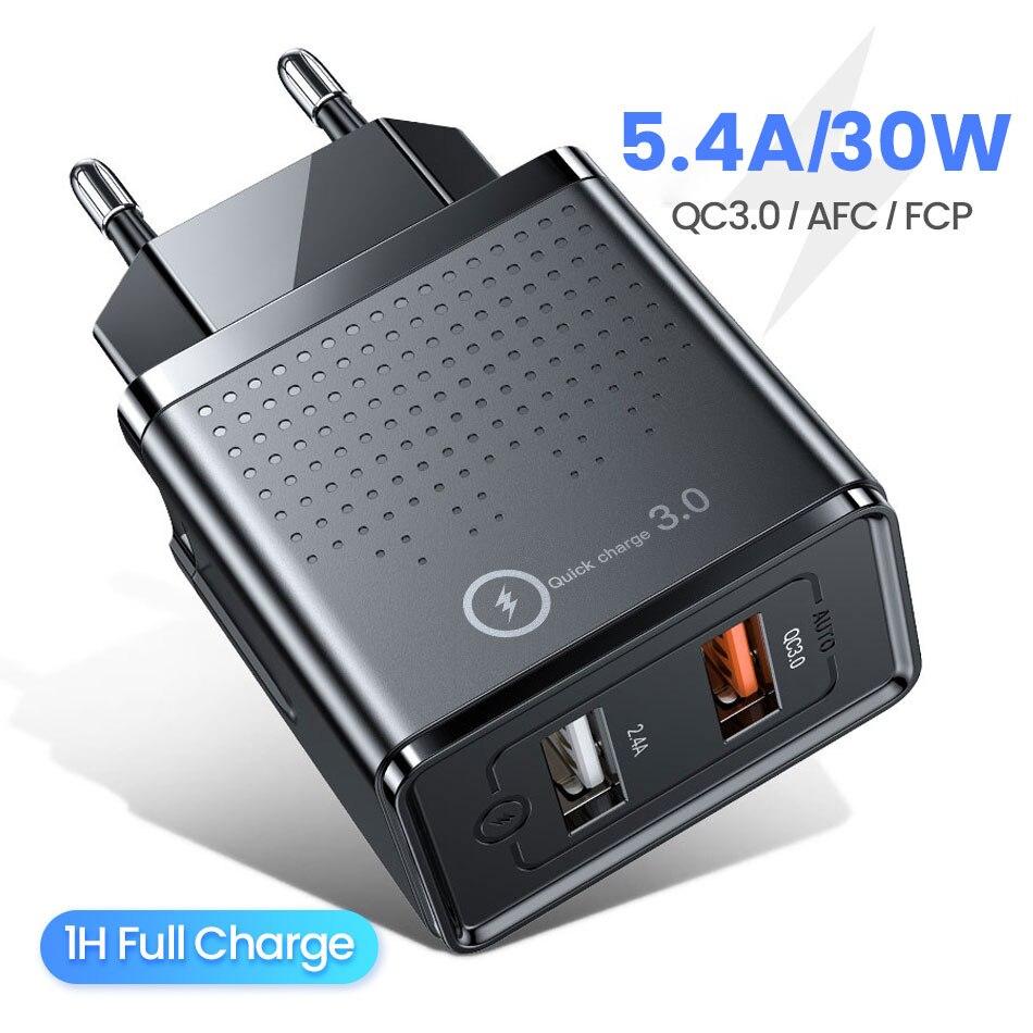 205.66руб. 45% СКИДКА|FIVI usb зарядное устройство для телефона, быстрое зарядное устройство для xiaomi samsung S10 S9 S8 QC 3,0, usb зарядное устройство для huwei, зарядное устройство для телефона для iphone|ЗУ для мобильных телефонов| |  - AliExpress
