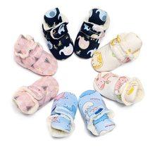 Детская зимняя обувь для новорожденных 0 24 м с мультяшным принтом