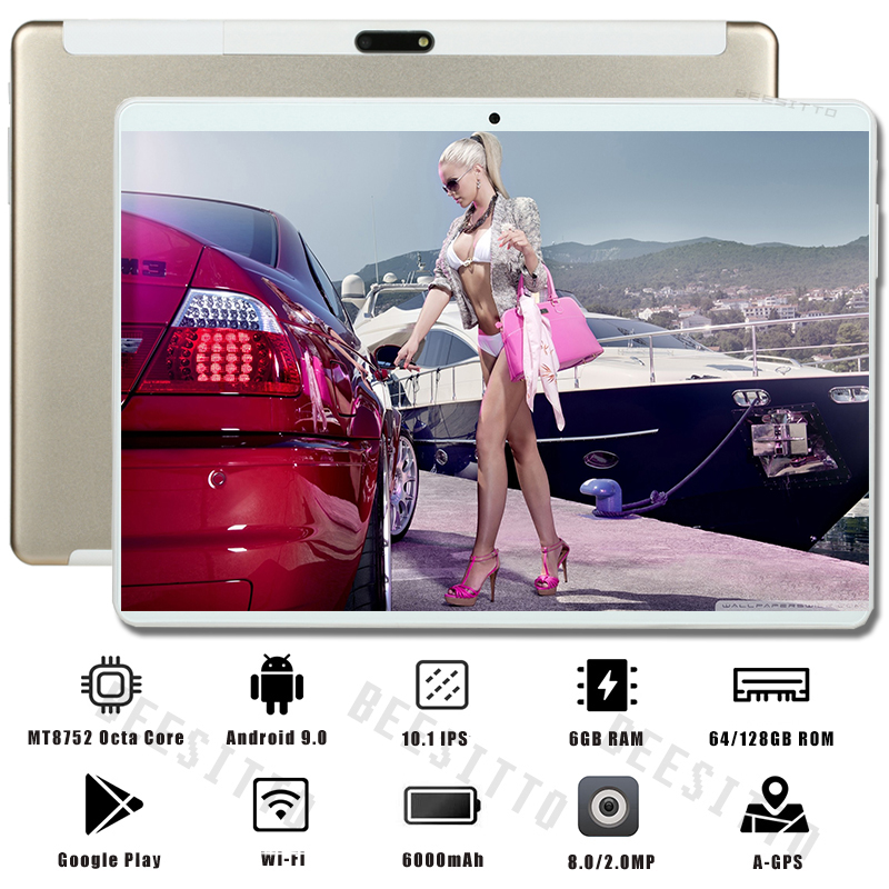 2020 Global Version 10 Inch Tablet PC 6GB RAM 128GB ROM 1280*800 IPS Dual SIM Card 4G LTE FDD Wifi Android 9.0 Tablet 10.1