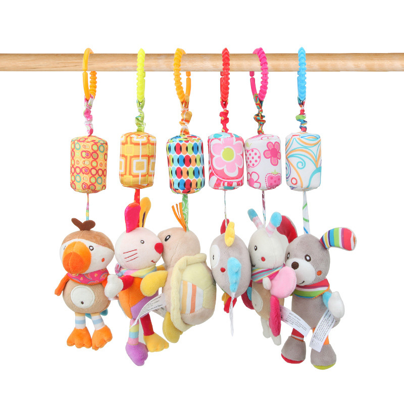 Newborn Baby Plush Stroller Toys Baby Rattles Mobiles Cartoon Animal Hanging Bell Educational Baby Toys 0-12 Months Toy