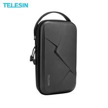 TELESIN حقيبة التخزين مقاوم للماء إيفا حافظة لتقوم بها بنفسك صندوق تخزين ل DJI OSMO عمل osor جيب GoPro بطل 8/7/6/5 عمل الكاميرا