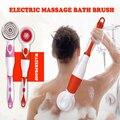 Nuevo cepillo eléctrico de baño 4 en 1 mango largo impermeable cepillo de limpieza corporal masaje ducha en el hogar sistema de Spa limpio cuidado de la salud