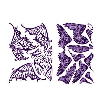 2019 nuevas piezas de ala de mariposa troqueles de corte de Metal para DIY tarjetas de papel para álbum de recortes suministros artesanales que hacen plantilla