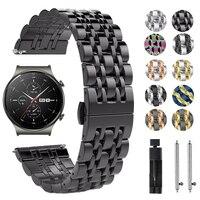 Roestvrij Stalen Band Voor Huawei Horloge 3 Gt 2 Pro GT2 Metalen Pols Bandjes Band Armband Voor Honor Magic Es gs 20Mm 22Mm Horlogeband