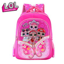 LOL Surprise Dolls Cartoon Children's Backpack Women Shoulders School Backpacks for Teenage Girls Schoolbags Cute Wear-resistant