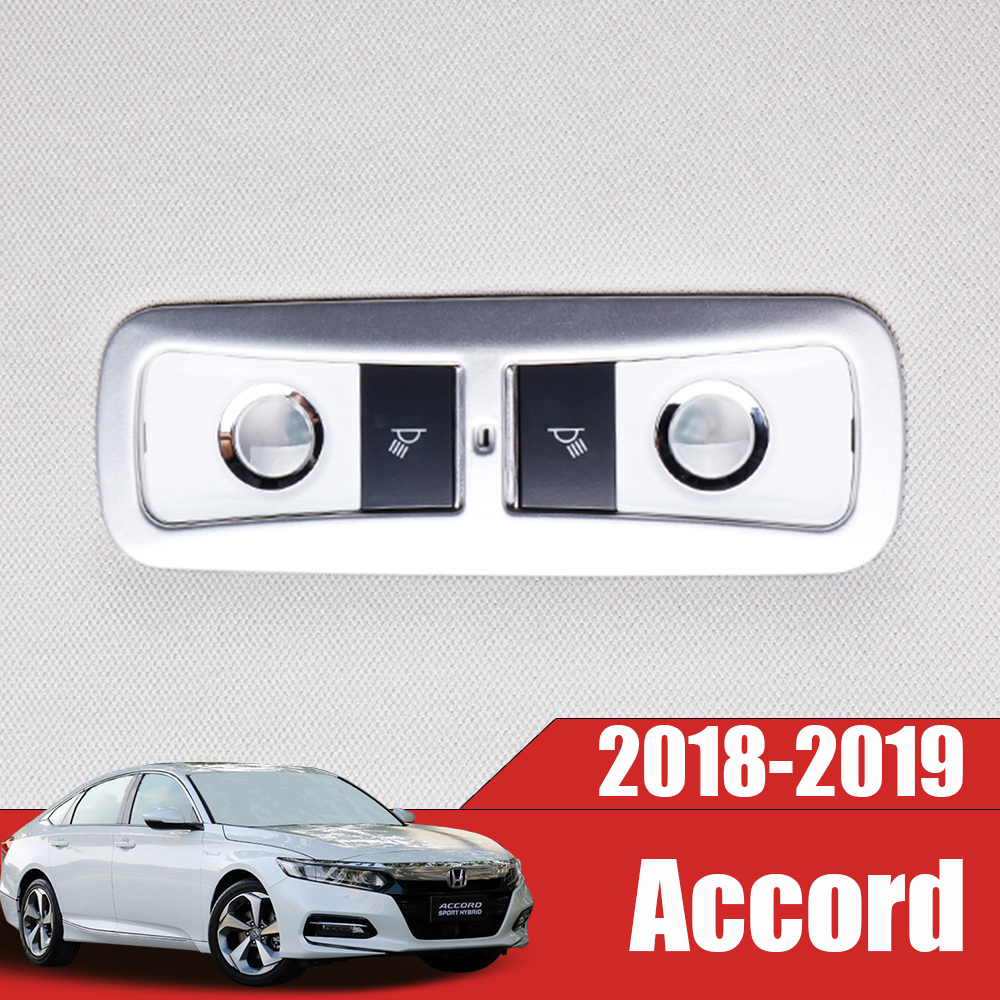 For <font><b>Honda</b></font> <font><b>Accord</b></font> 10th 2018 <font><b>2019</b></font> ABS Matte/Carbon Fibre Car sticker rear reading Lampshade Cover Trim car styling accessories image