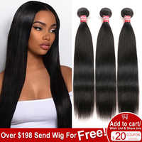 Sleek Brasilianische Gerade Haarwebart Bundles 100% Menschliches Haar Bundles 3/4 Pcs Nicht Remy Haar Extensions Freies Verschiffen Cabelo Humano